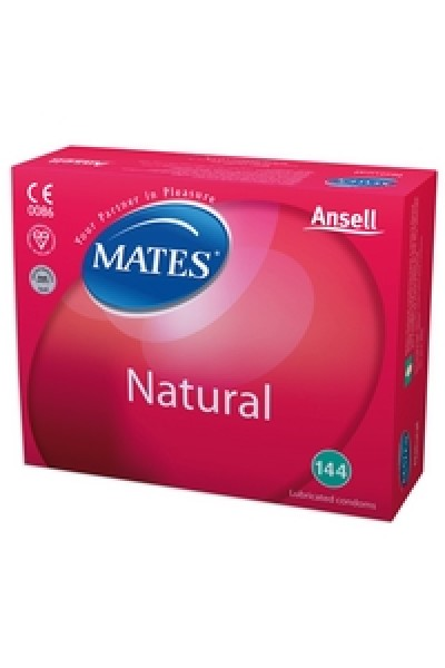 Mates Natural Condoms 144 Clinic Pack