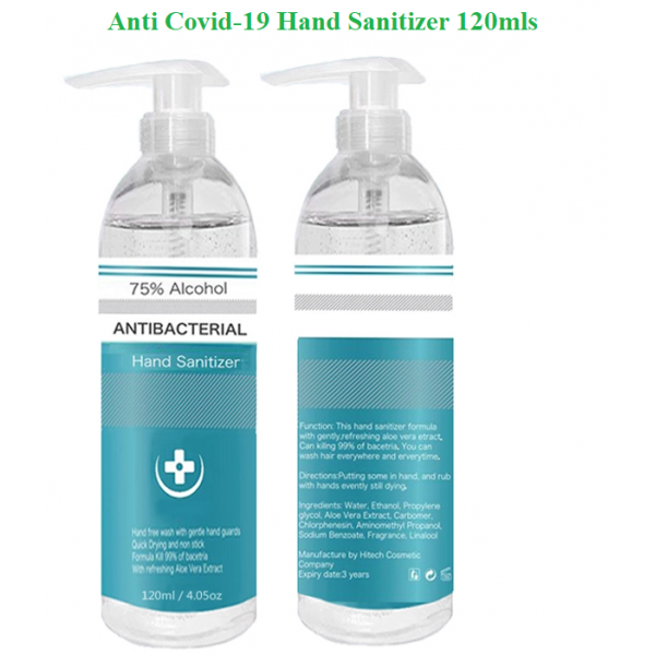 Hand Sanitizer - Anti-Bacteria - Anti-Virus - 120mls 75%