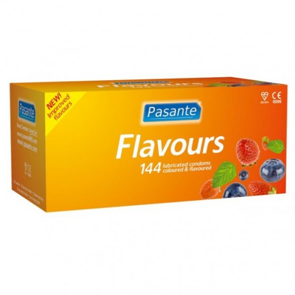 Pasante Mixed Flavours Condoms 72 Pack